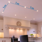 Spacing ceiling lights