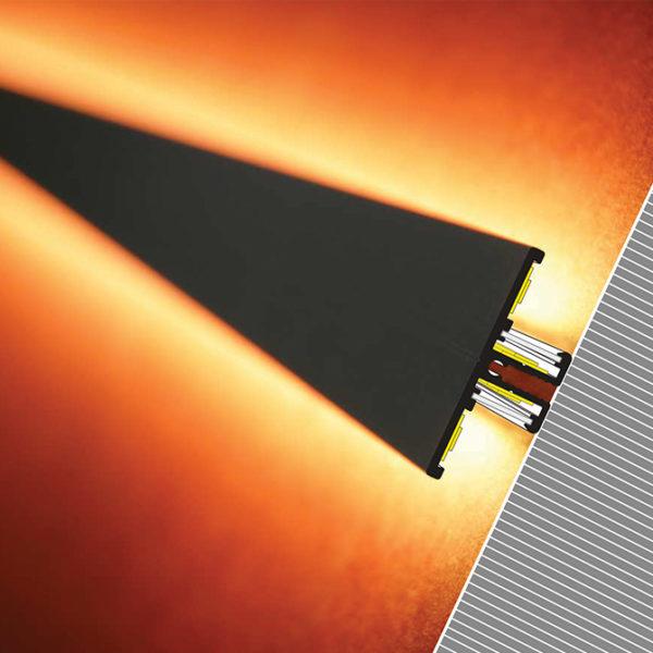 Back LED aluminum profile for feature strip lighting - K01-1015-2M 670x670 Diagram