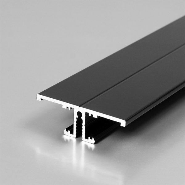 BACK LED ALUMINIUM PROFILE FOR LED TAPE -2M K01-1015-2M Black 670x670