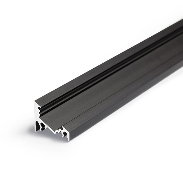 CORNER LED ALUMINIUM PROFILE FOR LED TAPE – 2M - K01-1060 Black 670x670