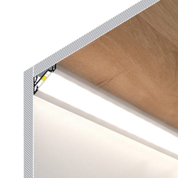Corner LED Aluminium profile For Kitchen Surface Strip Lighting- K01-1060 Diagram 670x670