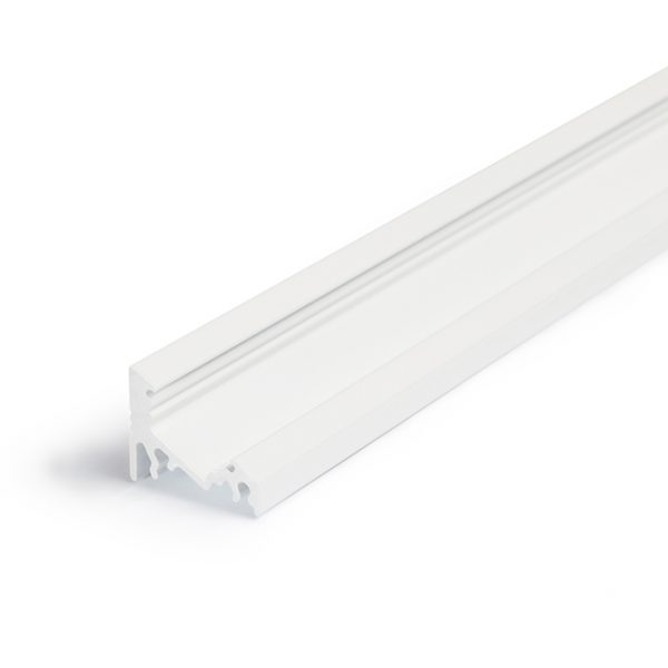 CORNER LED ALUMINIUM PROFILE WITH TWO LIGHTING ANGLES– 2M - K01-1060 White 670x670
