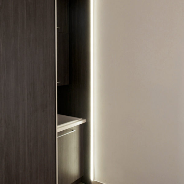 Corner LED Aluminium Profile For Kitchen Work Surfaces- K01-1060 insitu 5 670x670