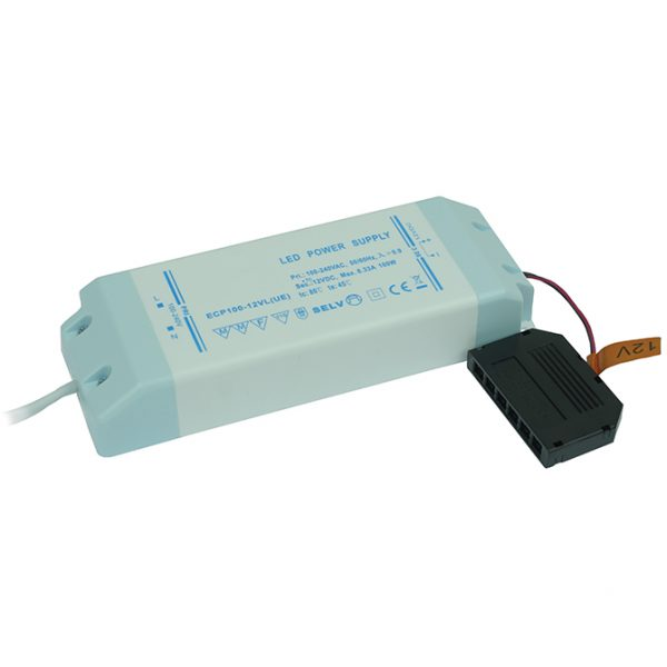 100W 12V LED DRIVER WITH 6-PORT MICRO PLUG CONNECTOR K10-1290 670X670