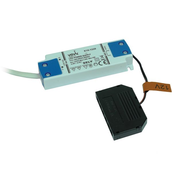 15W 12V LED DRIVER WITH 6-PORT MICRO PLUG CONNECTOR K10-1220 670X670