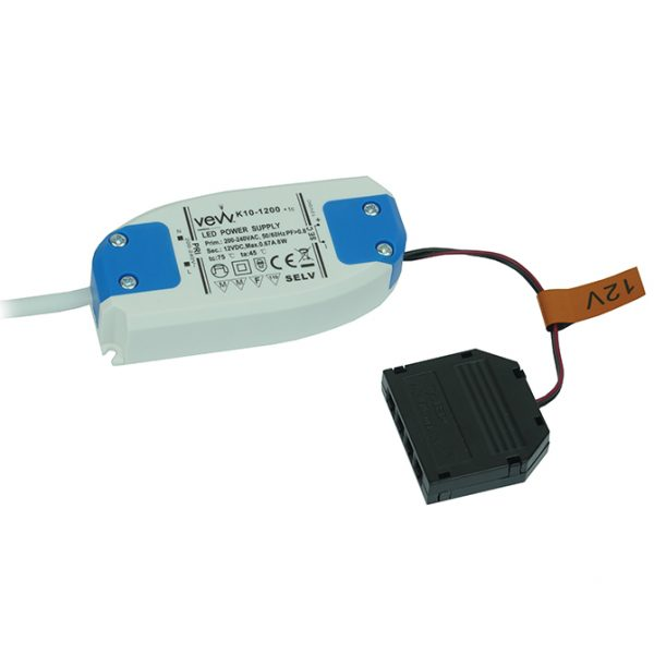 8W 12V LED DRIVER WITH 4-PORT MICRO PLUG CONNECTOR K10-1200 670X670
