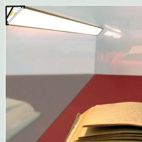 Display LED Aluminium Profile For Display Cabinet Strip Lighting - K01-1065 Diagram 670x670