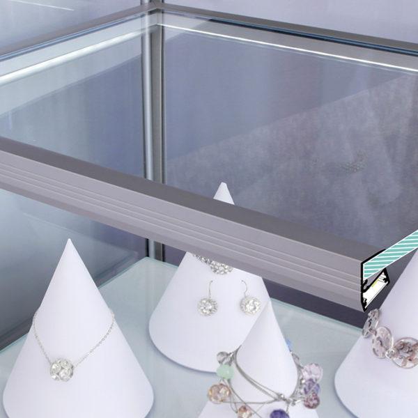 Edge LED Aluminium Profile For Worktop Lighting - K01-1120 cross section application 670x670