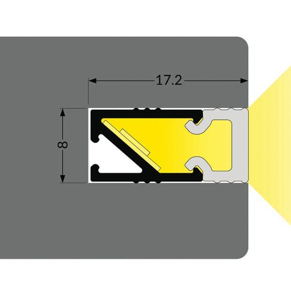 EDGE LED Aluminium Profile -2M k01-1120 670x670