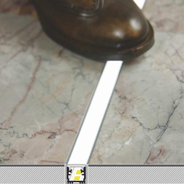 Floor LED Aluminium Profile For Floor Strip Lighting - K01-1040-2M Diagram 670x670
