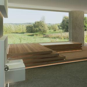 Floor LED Aluminium Profile For Floor LED Lighting- K01-1040-2M insitu 4 670x670
