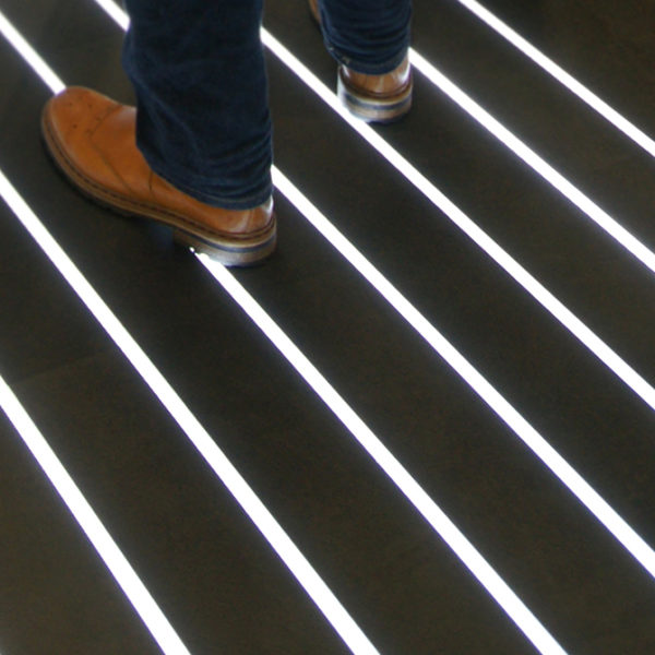 Floor LED Aluminium Profile For Floor Strip Lighting- K01-1040-2M insitu 7 670x670