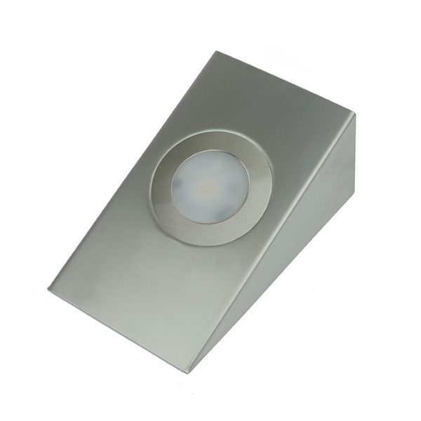 GALAXY IP44 RATED COB LED CABINET WEDGE LIGHT STAINLESS STEEL 2.6W K01-0122 670X670