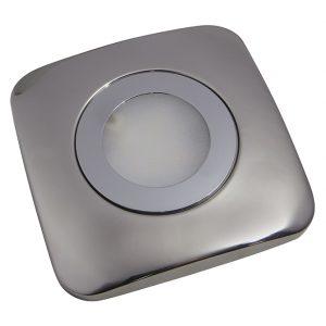 GALAXY IP44 RATED COB LED CABINET SQUARE LIGHT POLISHED CHROME 2.6W K01-0128 670X670