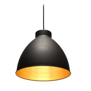 HOPPER BLACK & COPPER CEILING PENDANT 310MM T01-0010 670x670