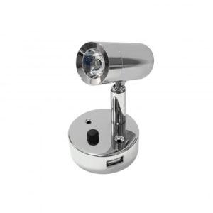 NANO LED CYLINDER LOCKER SPOTLIGHT WITH USB SOCKET K00-1000U 670x670