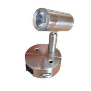 K00-1000U NANO LED CYLINDER LOCKER SPOTLIGHT WITH USB SOCKET