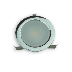 SOLA IP65 RATED LED POLISHED CHROME CIRCULAR PLINTH LIGHT WITH DIFFUSED LENS 0.4W K01-0030 2 670x670