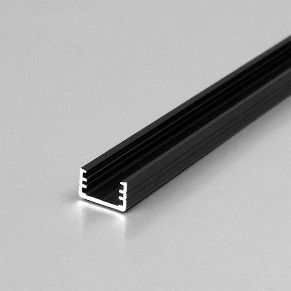 SLIM LED Aluminium Profile For Feature Lighting -2M K01-1000-2M Black 670x670