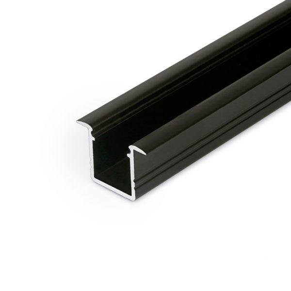 SMART RECESSED LED ALUMINIUM PROFILE FOR CABINETS– 2M K01-1037-2M Black 670x670