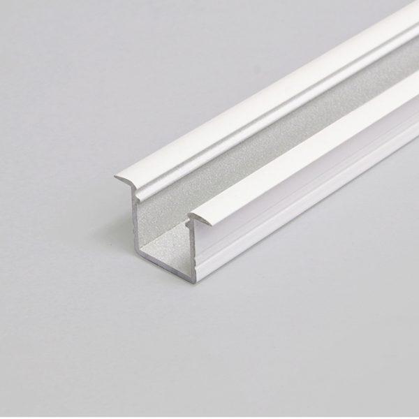 SMART RECESSED LED ALUMINIUM PROFILE FOR LED TAPE – 2M K01-1037-2M White 670x670