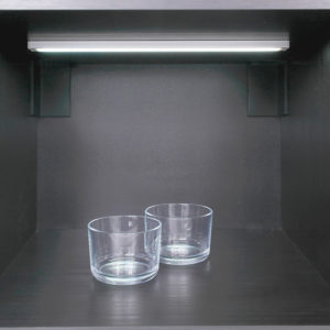 Surface LED Aluminium Profile For Under Cabinet Strip Lighting- K01-1050-2M Insitu 670x670