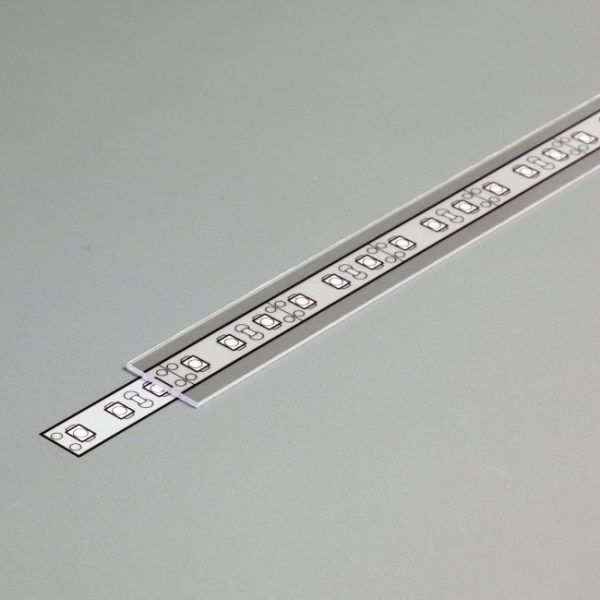 COVER SLIDE FOR SURFACE, RECESSED & CORNER PROFILE K01-1082 - clear