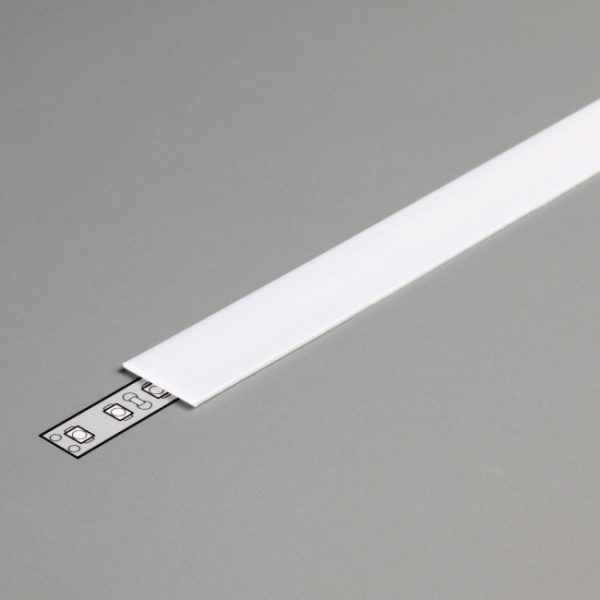 COVER SLIDE FOR SURFACE, RECESSED AND CORNER PROFILE K01-1082 - opal