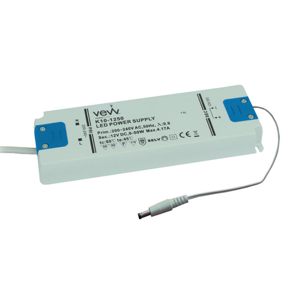 K10-1250UNI 670x670 50W 12V LED DRIVER FOR SINGLE COLOUR, CCT AND RGB CONTROLLERS