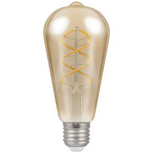 PEAR SPIRAL FILAMENT 6W LED LAMP E27 K13-0061WW 670x670