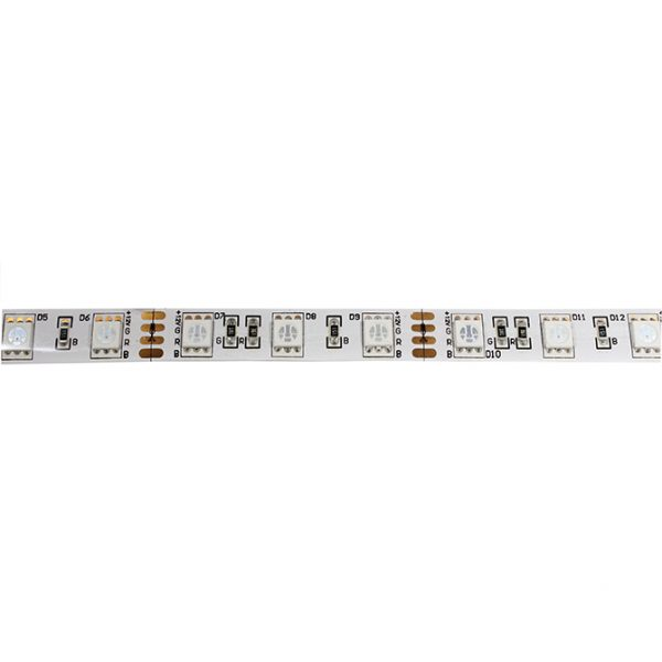 RGB + IP65 RATED COLOUR CHANGING LED STRIP LIGHT 14.4W 60 LEDS PER METRE K30-5915 straight 670x670