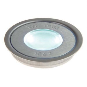 EYELEDS ® FLOORLEDS MULTI ROUND SINGLE LINKABLE LED UNIT – 1 X 0.3W STAINLESS STEEL K39-1008 670X670