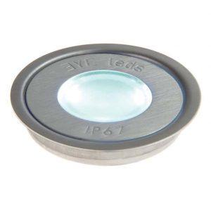 EYELEDS ® FLOORLEDS MULTI ROUND SINGLE LINKABLE LED UNIT – 1 X 0.3W STAINLESS STEEL K39-1008 670X670