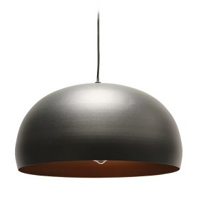 MATISSE BLACK OUTER & COPPER INNER CEILING PENDANT 400MM T01-0013 670X670