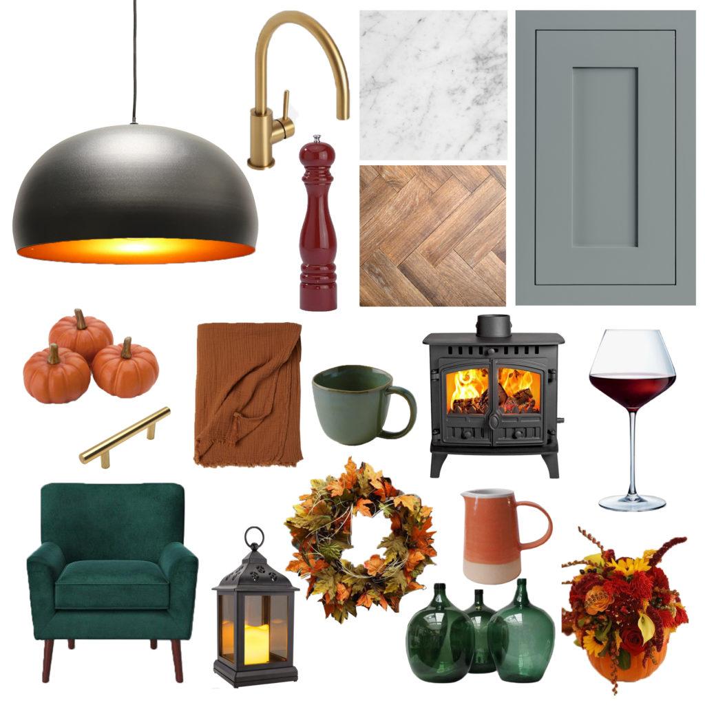 Autumn kitchen mood board