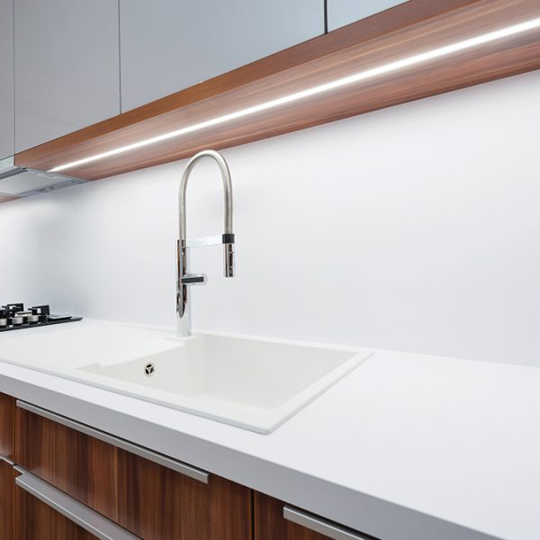 RECESSED LED ALUMINIUM PROFILE FOR CABINETS LIGHTING 2M - K01-1055-2M 670x670