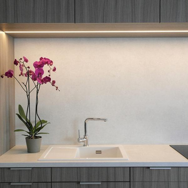 Recessed LED Aluminium Profile For Cabinet & Wardrobe Strip Lighting- K01-1055-2M Insitu 2 670x670