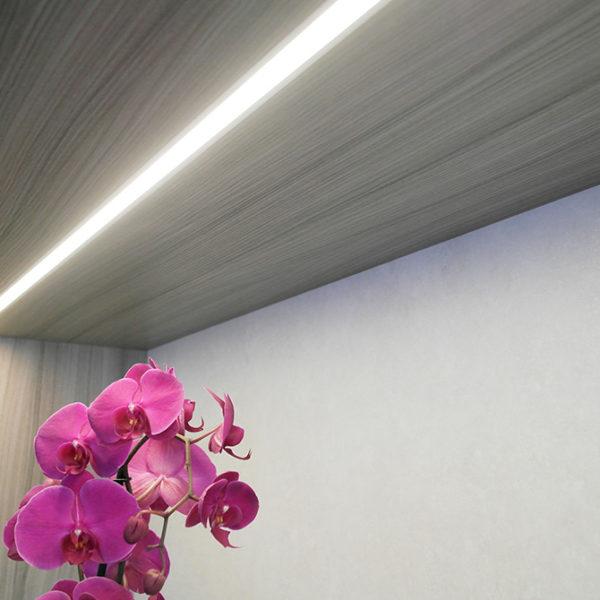 Recessed LED Aluminium Profile For Cabinet and Wardrobe Lighting- K01-1055-2M Insitu 4 670x670