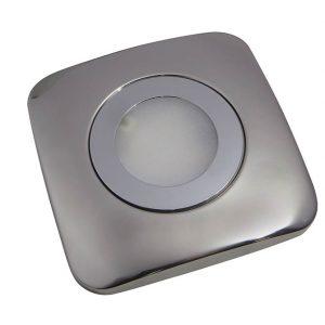 SPOT CCT SMD LED CABINET SQUARE LIGHT POLISHED CHROME 2W K01-0148CCT 670X670