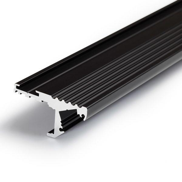 STEP LED ALUMINIUM PROFILE FOR STEPS-2M K01-1020 Black 670X670