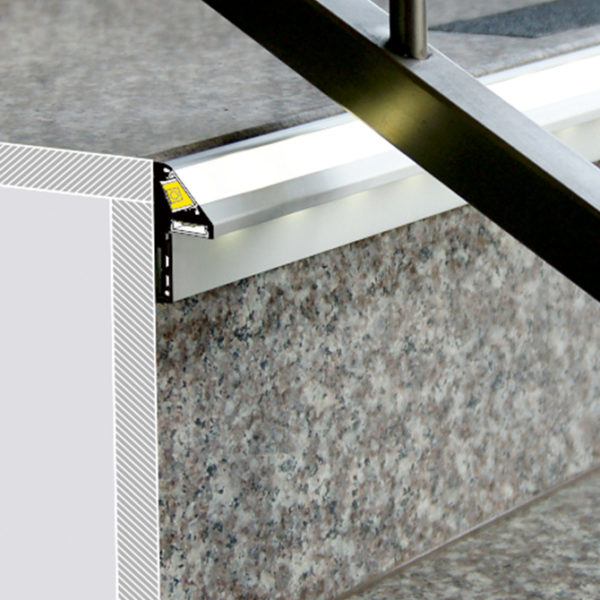 STEP LED Aluminium Profile For Step Strip Lighting -K01-1020 diagram 670X670