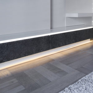 Slim LED Aluminium Profile For Discreet Or Feature Strip Lighting- K01-0100-2M insitu 2 670x670