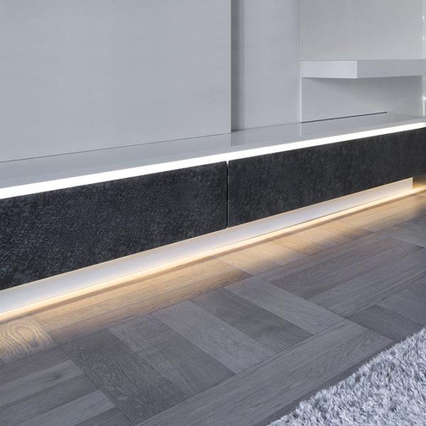Slim LED Aluminium Profile For Discreet Or Feature Strip Lighting- K01-0100-2M insitu 2 670x670