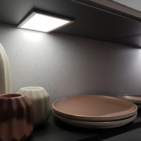 SLIM RECTANGLE LED RECTANGLE PANEL LIGHT 6W Slim K01-0191 Insitu 2 670x670