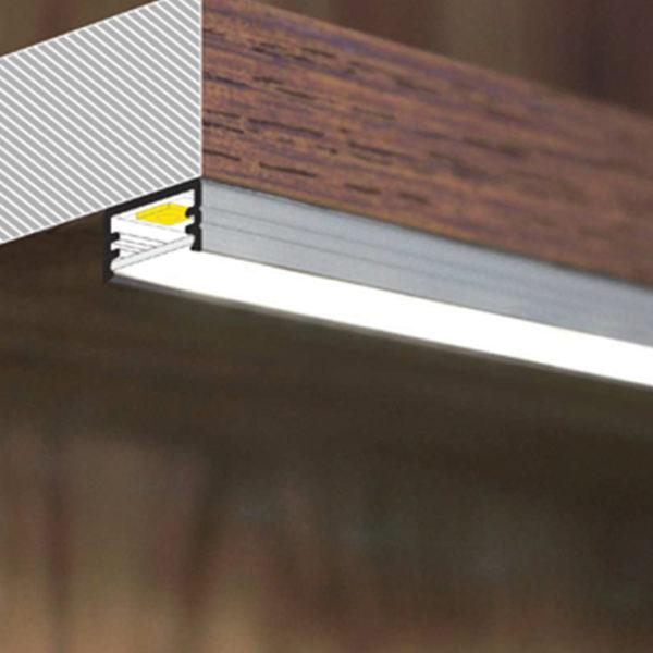 Slim LED Aluminium Profile For Feature Strip Lighting - K01-1000-2M diagram 670x670