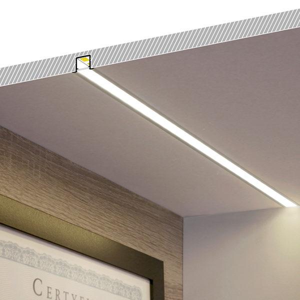 Smart Recessed LED Aluminium Profile For Wardrobe & Cabinet Strip Lighting- K01-1037-2M diagram 2 670x670