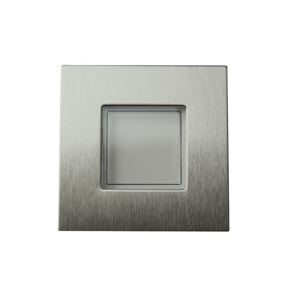 STRATA STAINLESS STEEL SQUARE PLINTH LIGHT 0.18W K01-0040SS 670X670
