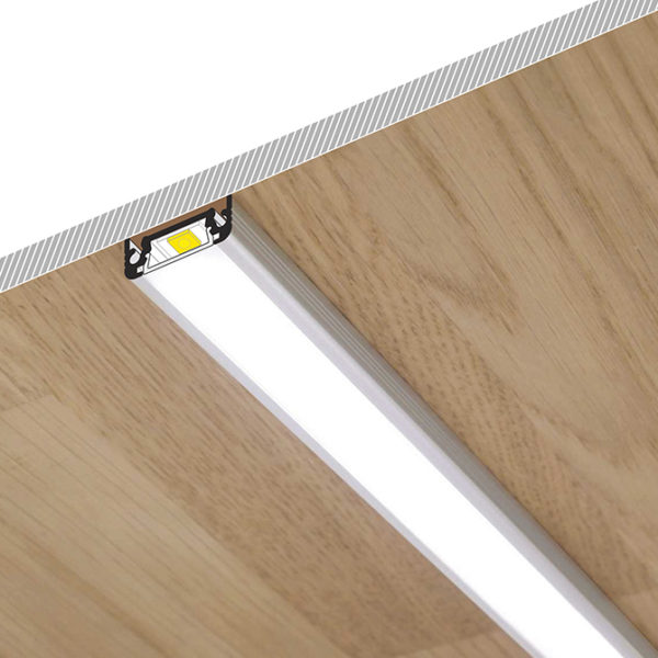 Surface LED Aluminium Profile For Under Cabinet Strip Lighting - K01-1050-2M - Diagram 670x670