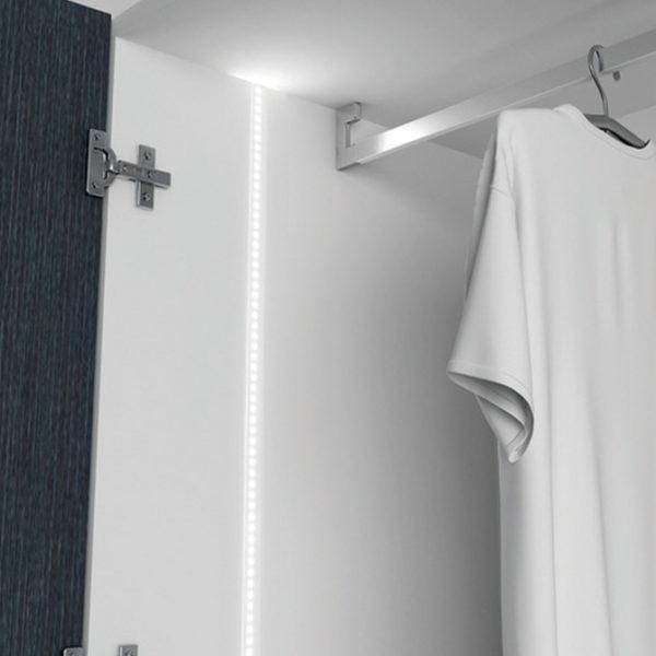 Tee Plastic LED Aluminium Profile For Niche & Alcove Strip Lighting - K01-1200 Diagram 670x670