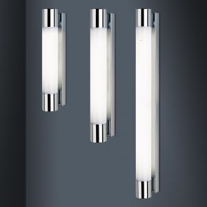 IP44 RATED DRESDE WALL LIGHT CHROME ACRYLIC DIFFUSER B90-05-4385,4386,4387 670x670
